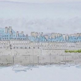 Aquarelle Gab Bretagne Saint-Malo - Galerie Art Maniak