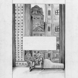Planche originale Lionel Richerand - Frink and Freud - Galerie Art Maniak