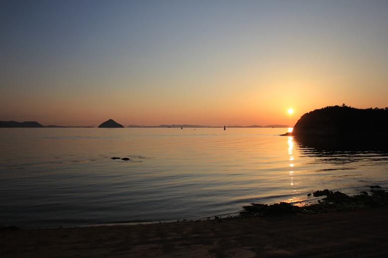 直島の夕日