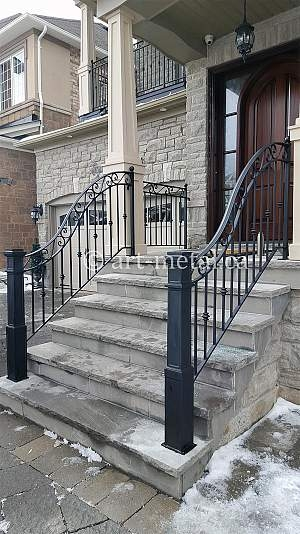 Front Porch Railings Manufacture And Installation Service | Front Porch Stair Railing | Wood | Style Cape Cod | Modern | Simple | Patio