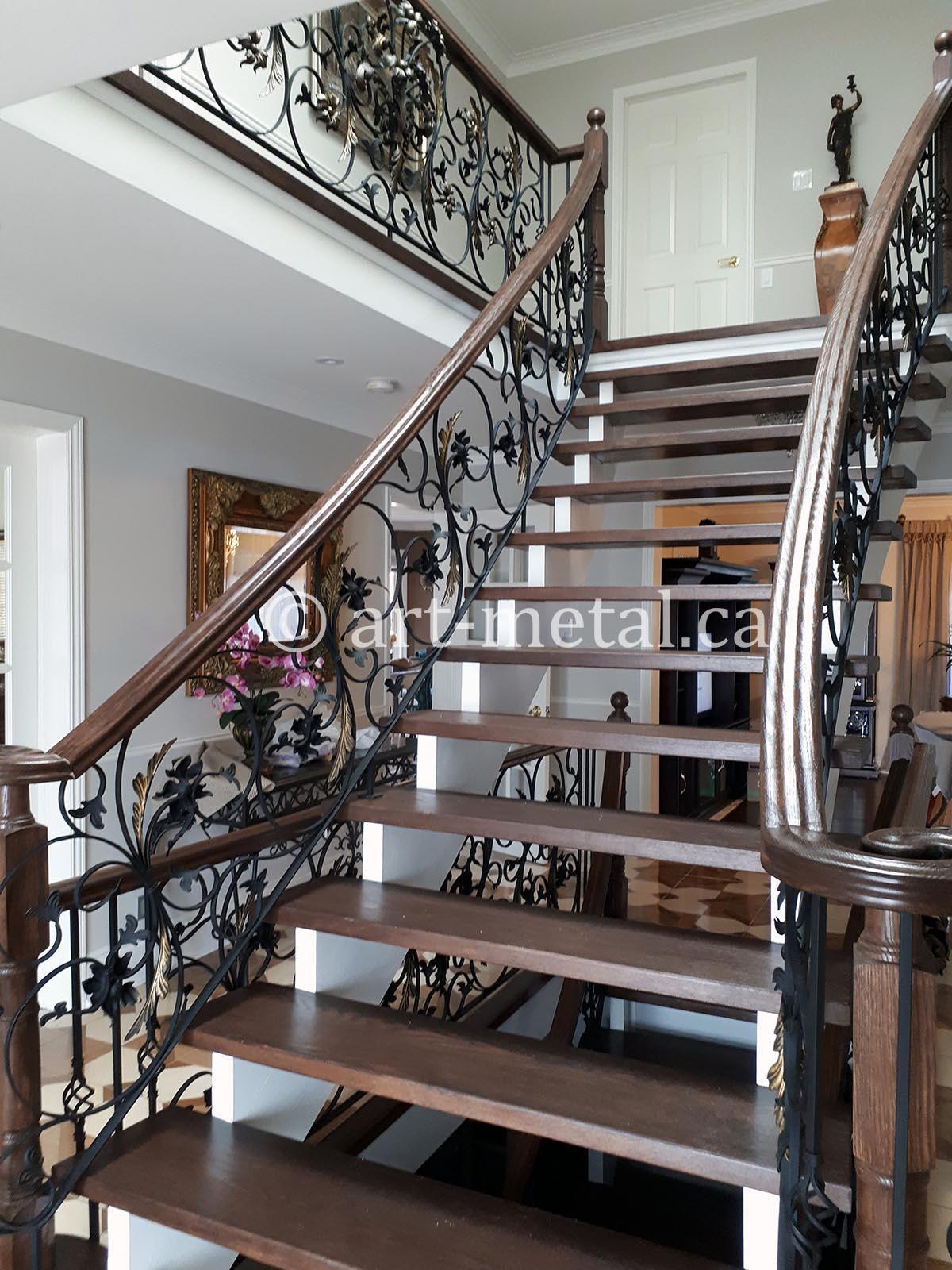 Get Best Wrought Iron Staircase Designs Ideas In Toronto   Wrought Iron Handrail Designs   Staircase   Iron Pipe   Cast Iron Railing   Garden   Geometric Railing