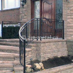Exterior Railings Handrails For Stairs Porches Decks | Metal Handrails For Stairs Exterior | Outdoor Stair | Simplified Building | Porch | Deck Railing | Handrail Ideas