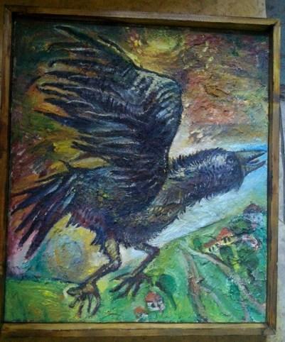Наталья Моисеева - Взлетающая ворона. 2014г. х.м. 90х70