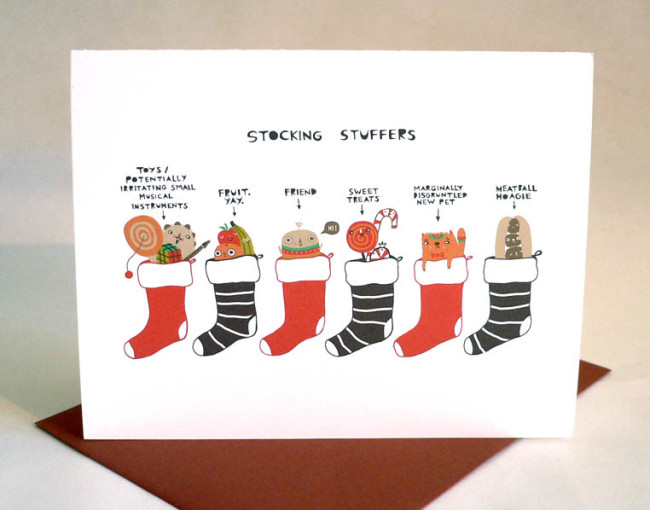Laura George Holiday Cards Art Nerd New York