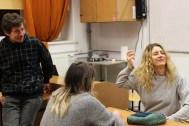 Групповое практическое занятие Лели Гольдштейн и Маши Хрущак. На фото - Юрий Пикуль и Маша Хрущак