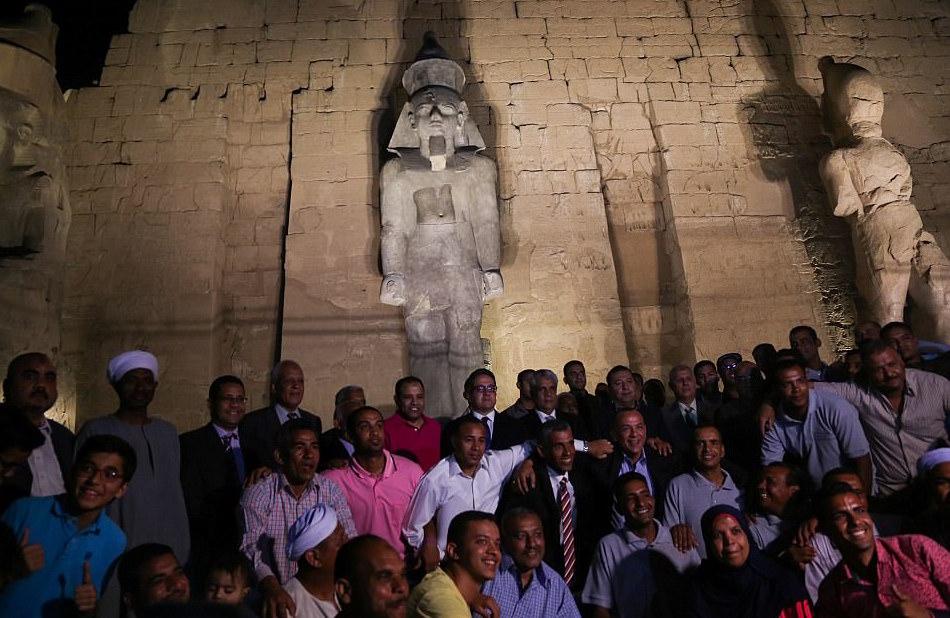 82-тонную статую Рамзеса II представили в Египте после реставрации