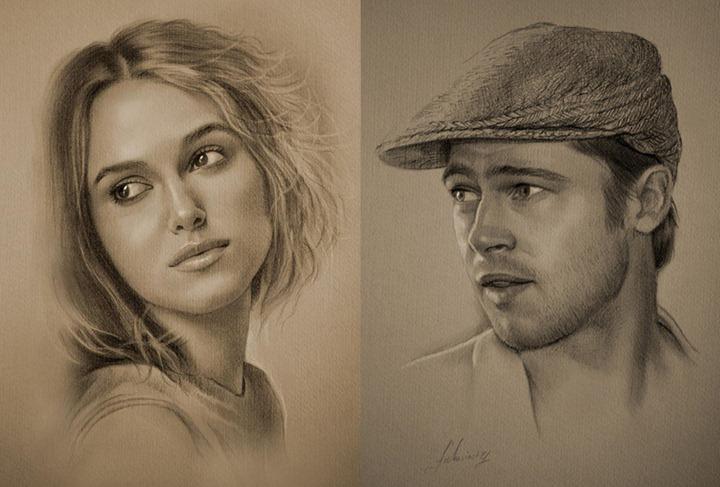 Голливудский актер создает невероятные портреты обычным карандашом