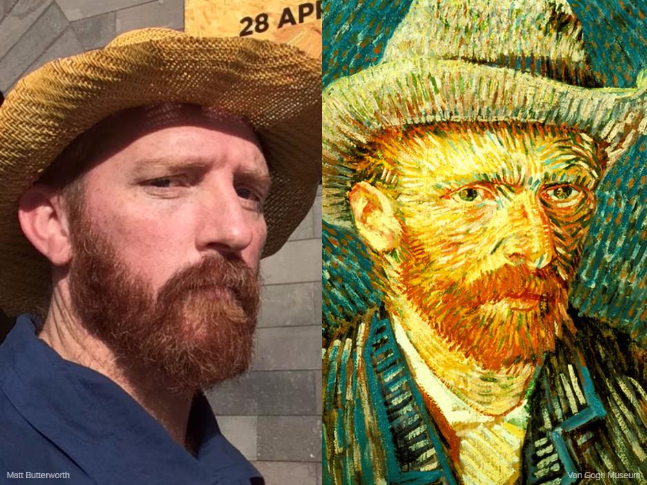 Художник переоделся в Ван Гога и стал знаменитостью