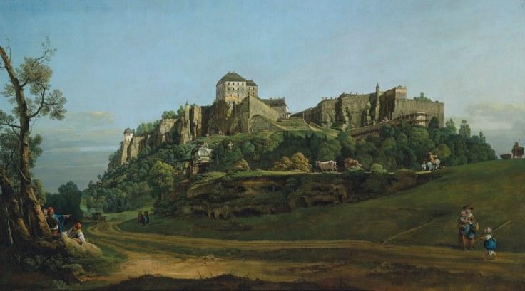 Бернардо Беллотто «Крепость Кенигштайна с севера» (1756-58)