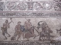 Mosaico a Pafos con scene mitologiche