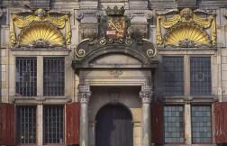 Dettaglio facciata della Delft City Hall