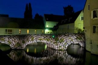 Illuminazione sulle rive del fiume L'Eure - Chartres
