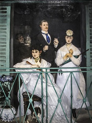 "Edouard Manet, ""Il balcone"""
