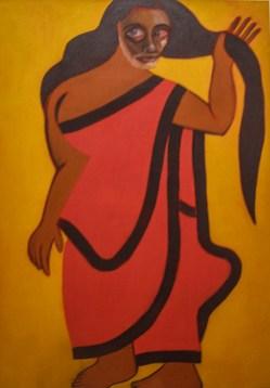 Francesco Clemente, Autoritratto come donna bengalese