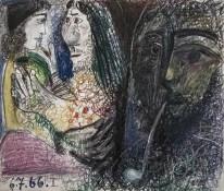 Coppia e l'uomo con la pipa, 1966