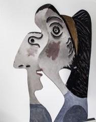 Testa femminile, lamiera tagliata e piegata, 1962. Dettaglio