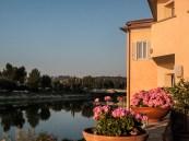 L'Hotel affacciato sull'Arno