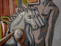 Giorgio De Chirico, Facitori di trofei, 1927. Dettaglio