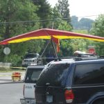 Hang Glider next to Farmer's Market, corner of California and C Street