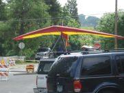 Hang Glider next to Farmer's Market, corner of California and C Street