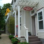 AP flag at entrance to Oregon Street Gallery - nice work, Katharine & Cheryl!