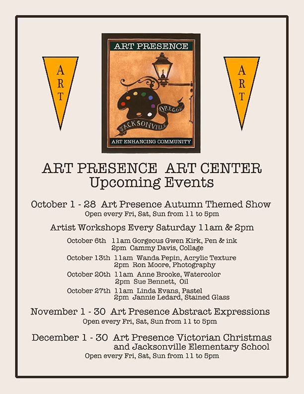 Jacksonville Art Center Upcoming Events, updated 10/5/12
