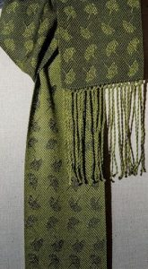 Cindie Kitchen won the Complex Weaver's award with this handwoven scarf