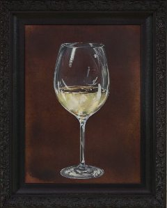 """White Wine,"" Patinated Copper and oil painting by Randall Grealish"