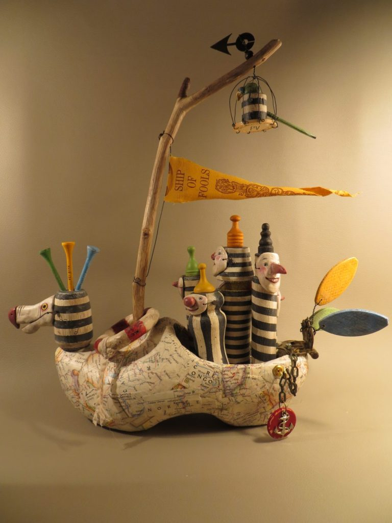 """Ship of Fools,"" an assemblage sculpture by Leona Keene"