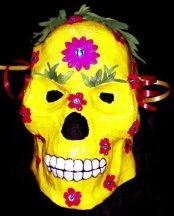 Papier-mâché mask by Zoe West