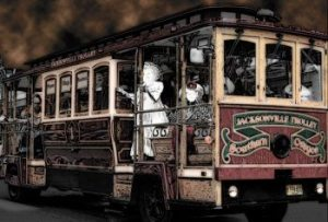 Haunted Trolley, Jacksonville, Oregon, October 2014
