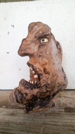 Bad Moon Rising, wood carving by Bruce Millbank