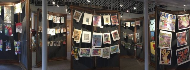 Naked Art: No Mats, No Frames ~ Great Deals! at Art Presence Art Center, Jacksonville, Oregon. Image by Tom Glassman