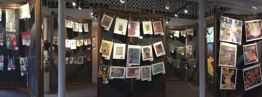 Naked Art 2018 : Naked Art 2017: No Mats, No Frames ~ Great Deals! at Art Presence Art Center, Jacksonville, Oregon. Image by Tom Glassman