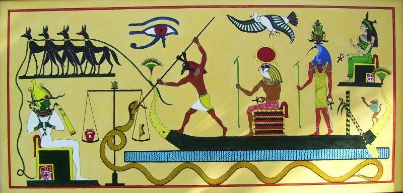 Egyptian Mythology, painting by Zoe West