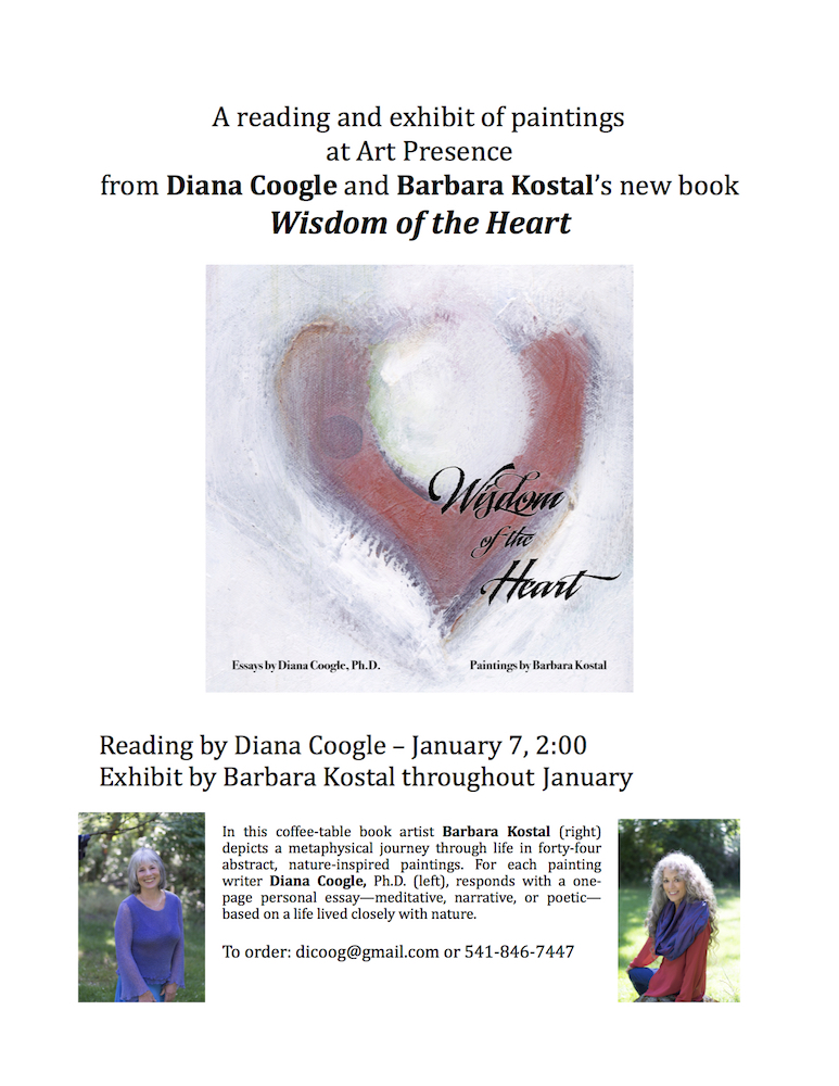 Author Reading by Diana Coogle  with Exhibit of Paintings by Barbara Kostal