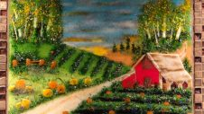 New Beginnings: Farm Scene, glass art by Jessy Carrara