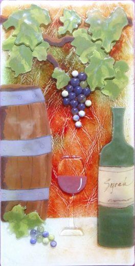 """Barrel of Fun,"" glass art by Jessy Carrara"