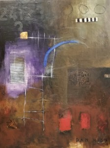 The Ladder, 30 x 40 mixed media on canvas by Dan Mish