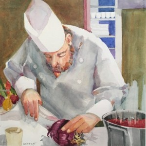 Vegetable Soup, watercolor by Anne Brooke