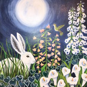 Midnight in the Garden, painting by Joyce Feigner