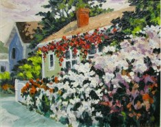 Front Yard Gate, oil painting by Bill Stanton