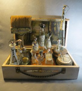 Grimm's Medicine Show, assemblage by Leona Sewitsky
