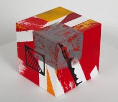 cube 10 II, acryl auf holz, 10x10x10cm, 2016