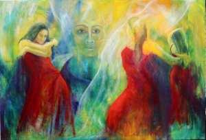 Flamenco maleri - se det i galleri i Hillerød