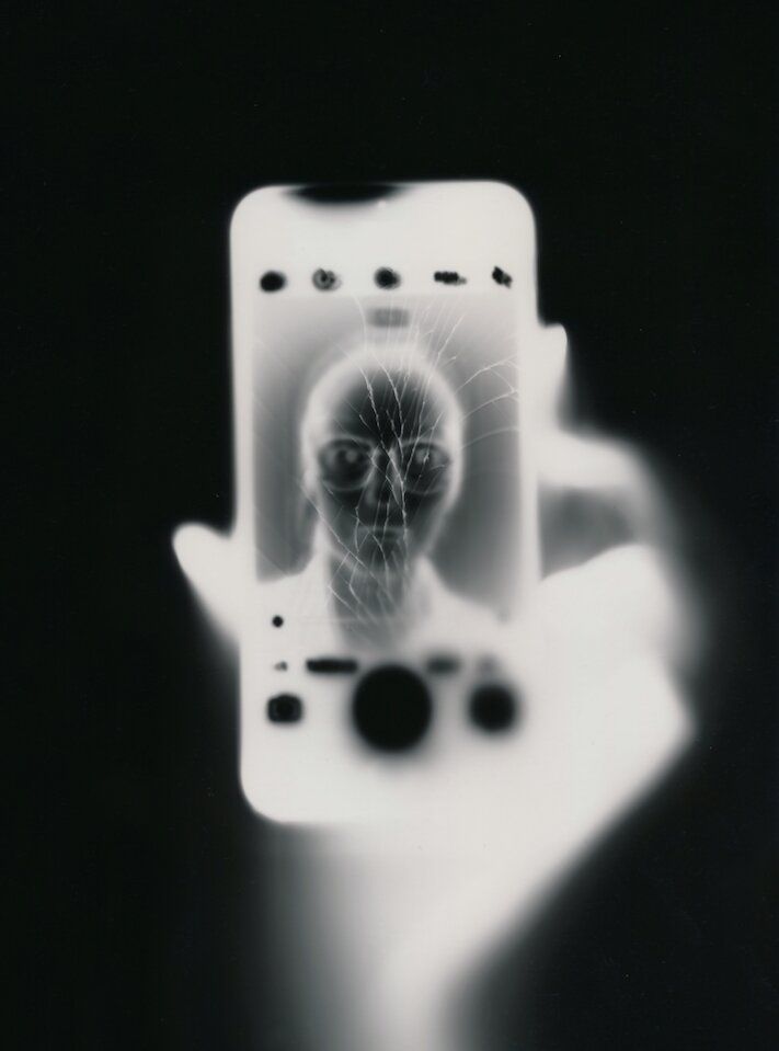 Tobias Becker, 'Ilfospeed Selfies' 2018, smartphone light on analog photographic paper, 18 x 24cm