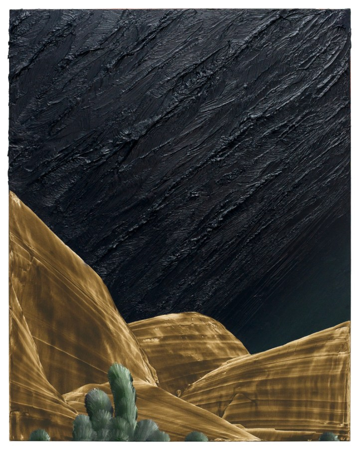 David Borgmann, untitled (ST54), 140cm x 110cm,oil on linen, 2018