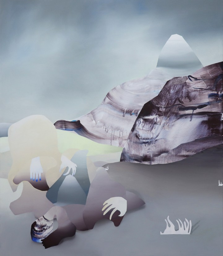 Judith Grassl,How to leave II,Acrylic on canvas,170x150cm,2019