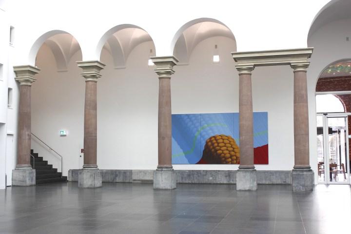 Pia Krajewski, (Mais) 2019, Planet 58, K21, 230x450cm, oil on canvas, courtesy of private collection