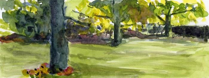 Backyard Watercolor